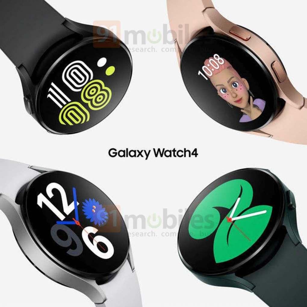 Samsung Galaxy Watch 4 renders. Image: 91 Mobiles