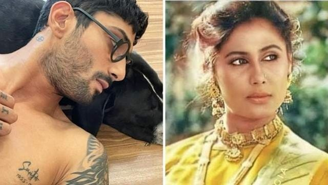 Prateik Babbar gets mother Smita Patil's name tattooed on chest, shares picture on Instagram