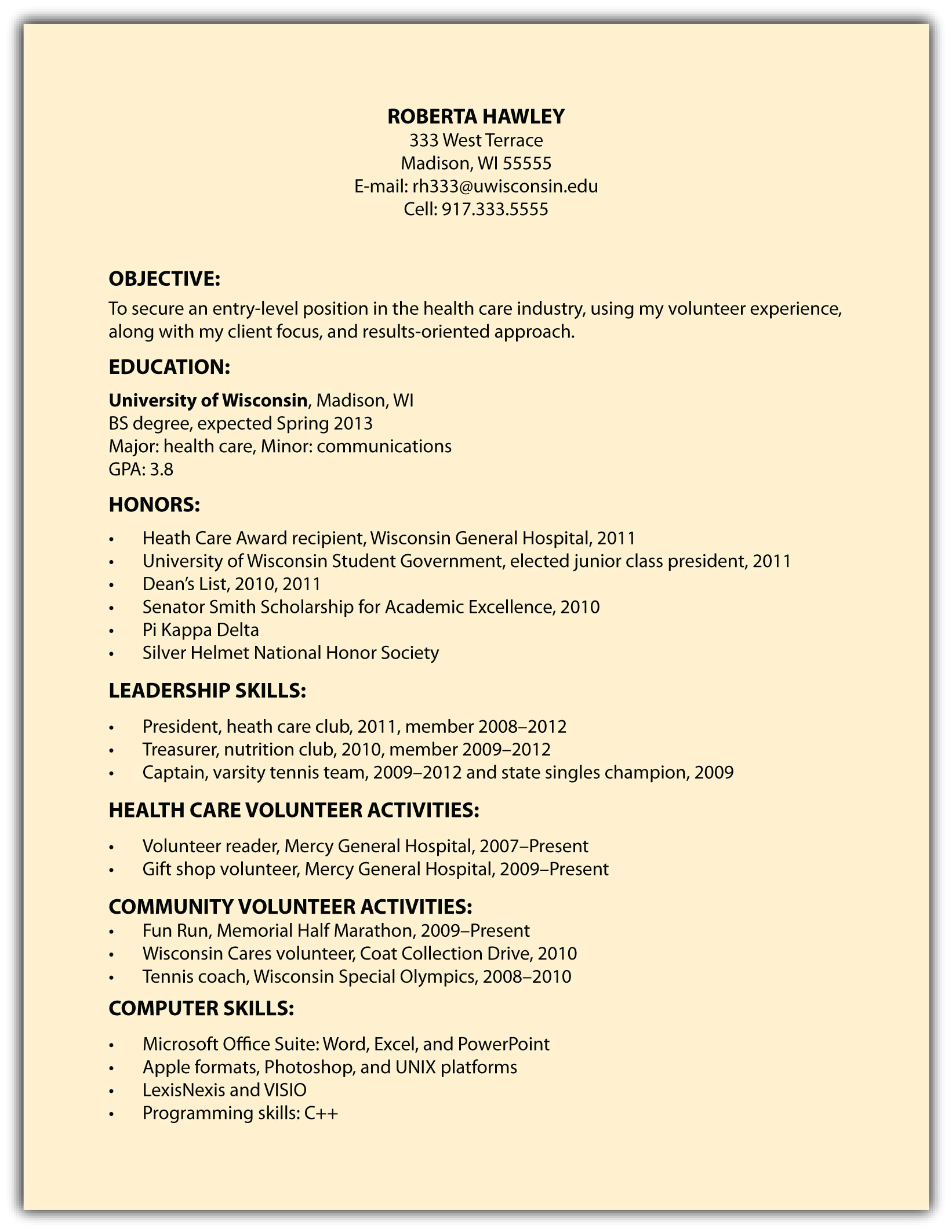 examples outlining teamwork on a resume