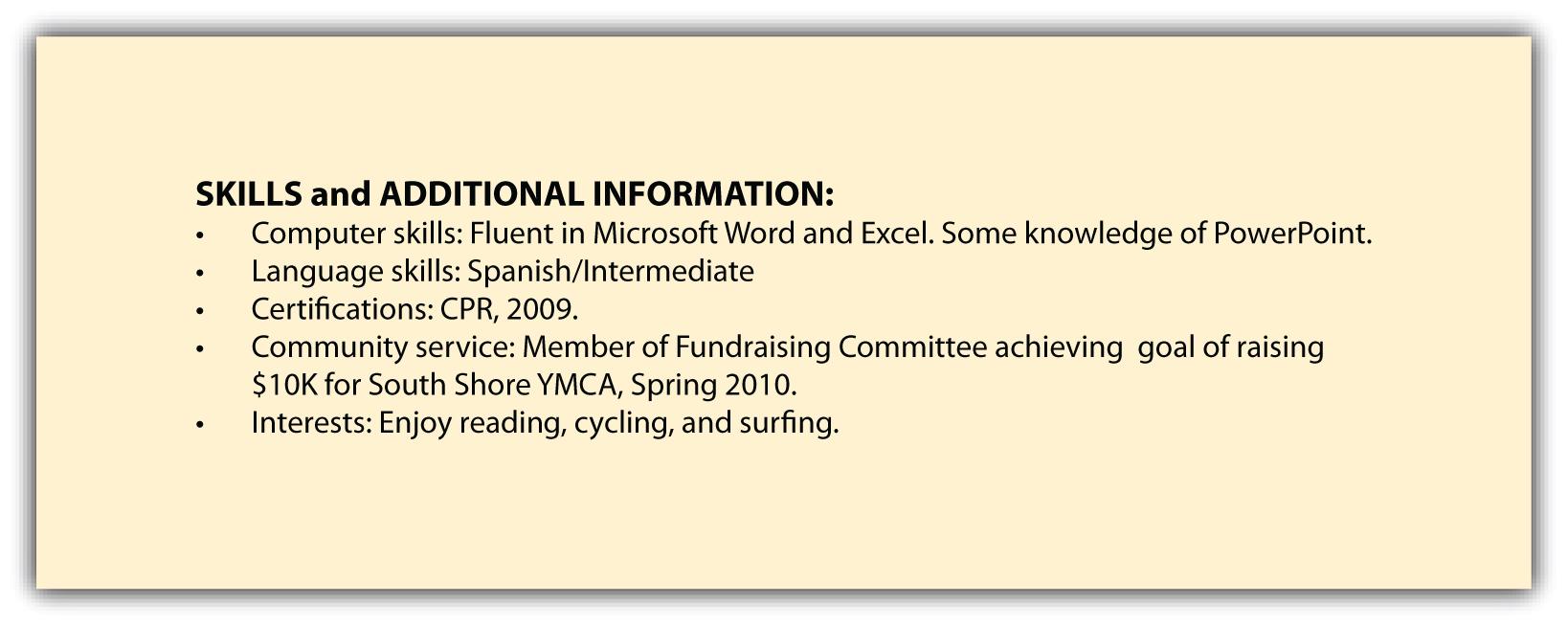 548665: Skills Section Of Resume Example U2013 Example Skills .