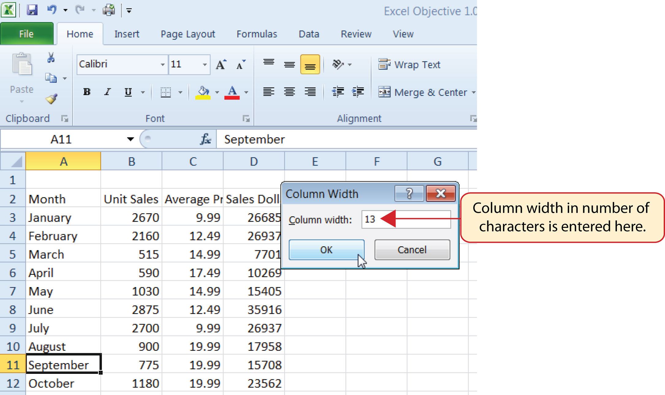 How To Set Column Width In Excel Using Javascript