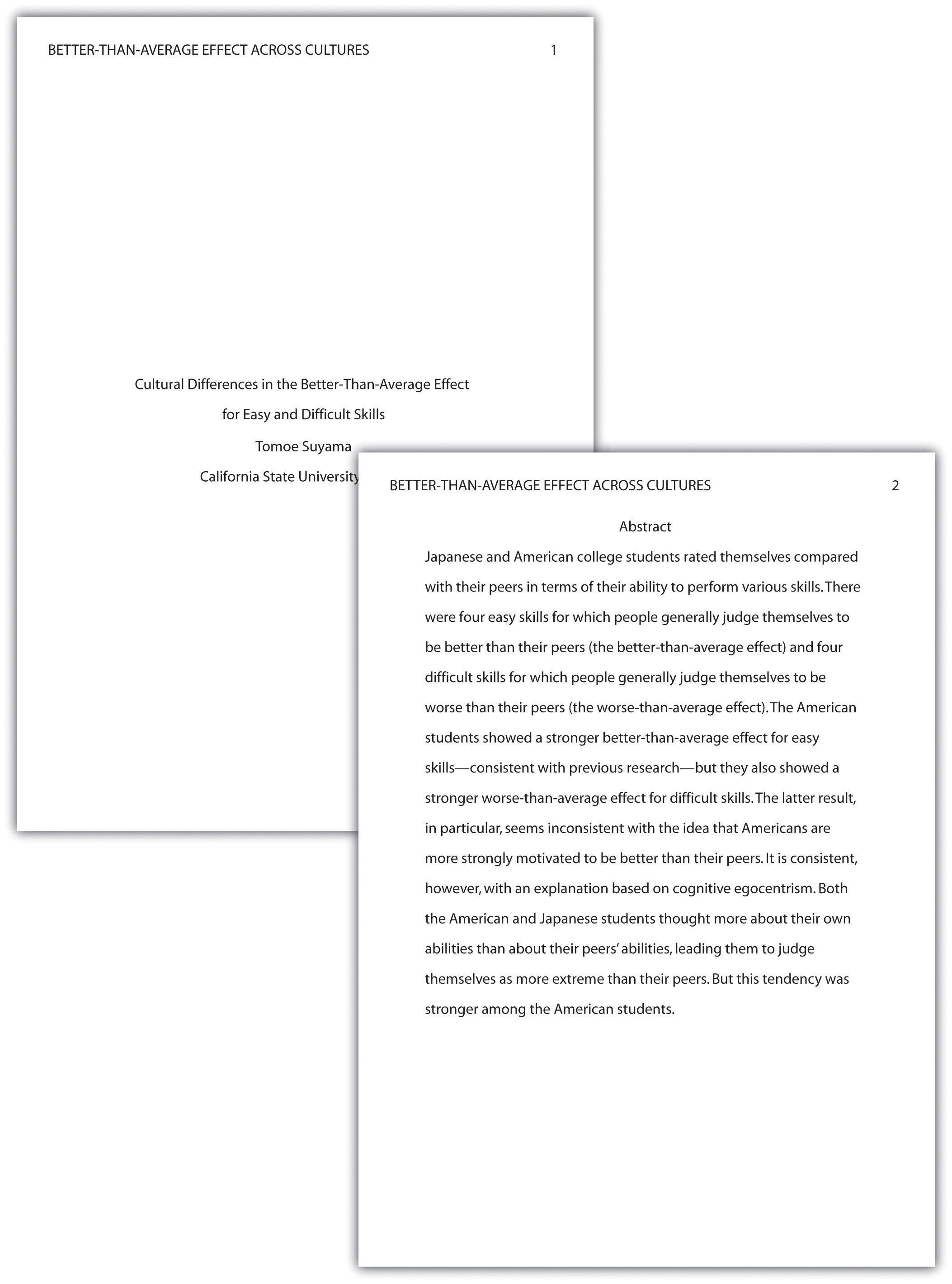 sample apa paper mla format. sample of apa format essay great ...
