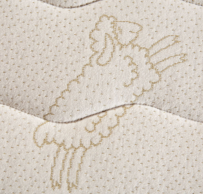 organic cotton quilted to Shasta Wool