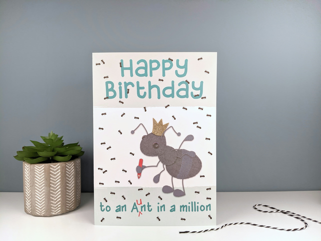 Funny Birthday Card For Auntie Or Aunt Folksy