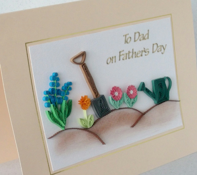 Quilling Fathers Day Card Folksy