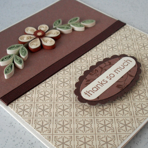 Handmade Thank You Card Quilled Folksy