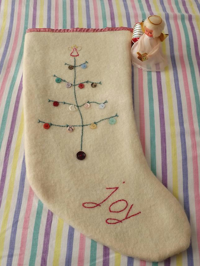 Vintage Handmade Christmas Stocking Folksy