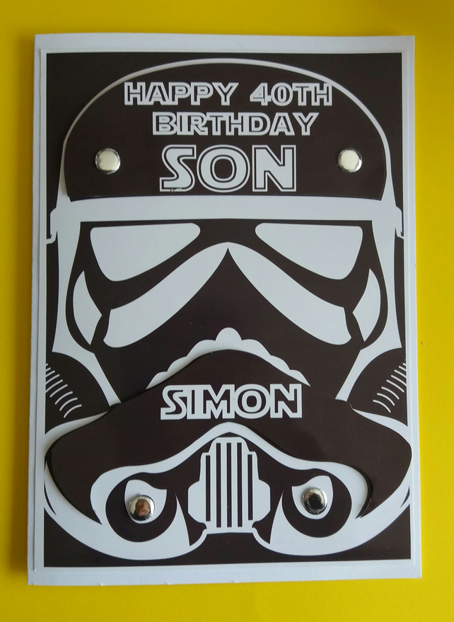 Personalissed Star Wars Birthday Card Father S Folksy