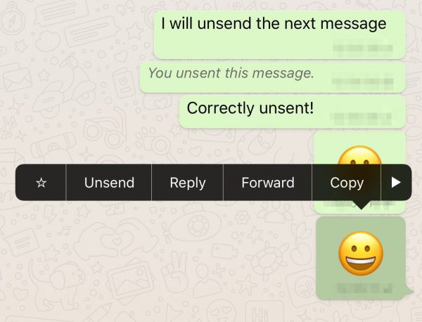 whatapp recall feature images