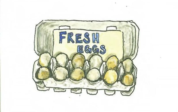 At Union Square, a dozen eggs will run you about $5. At grocery stores, they range from about $2 to about $7 for