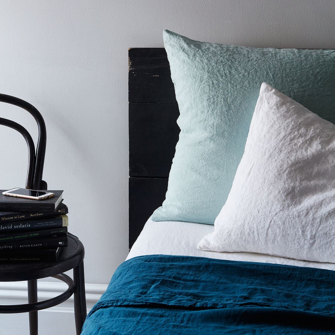 Stonewashed Linen Bedding (King) - Duvet Cover, Peacock