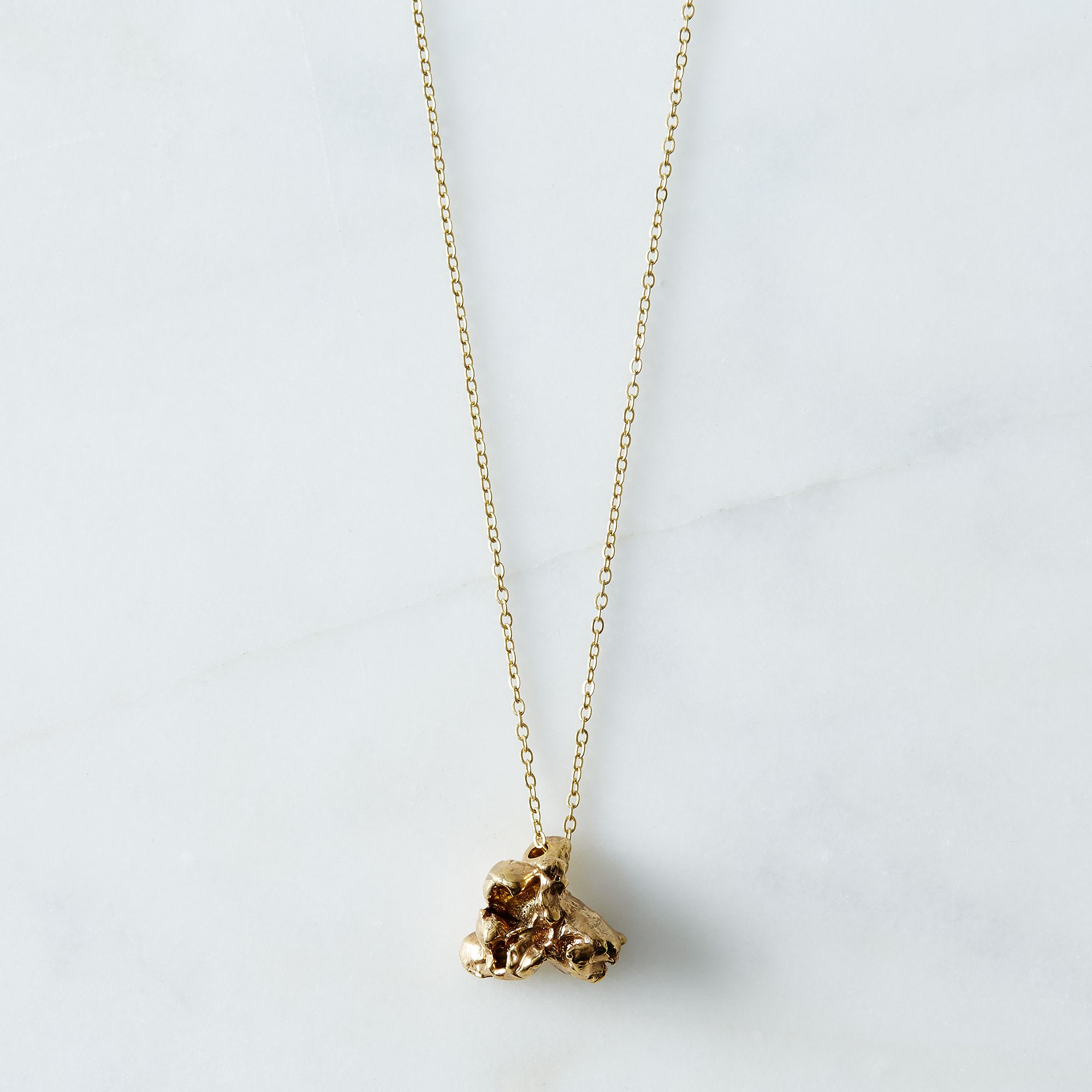Popcorn Necklace - Brass