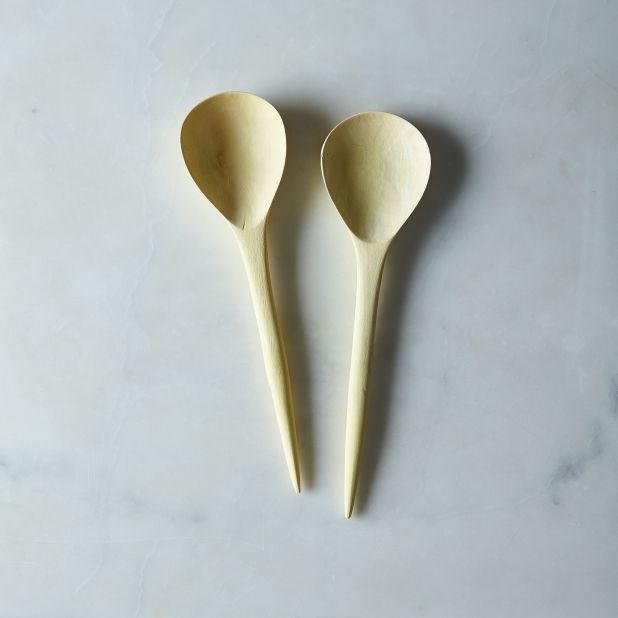 Hand Carved Lemonwood Spoons (Set of 2) - 12