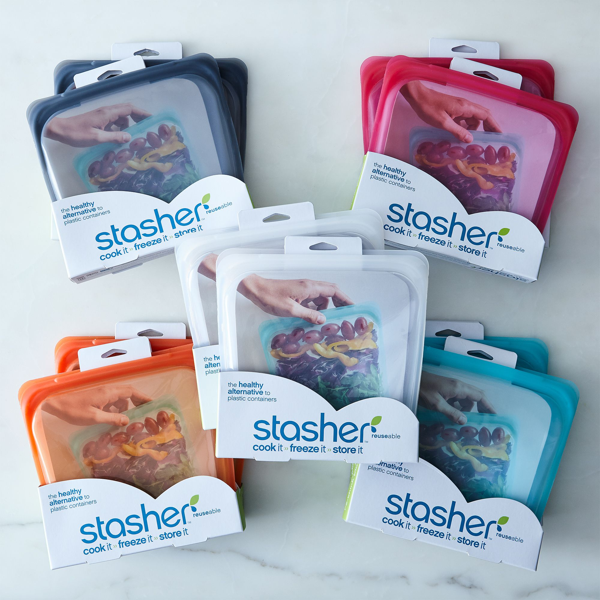 Reusable Storage Bags - Pattern (Set of 4)