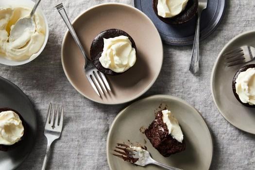 Ian Knauer's chocolate eggplant cakes