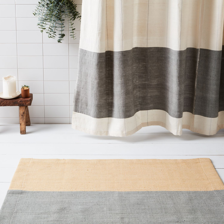 handwoven ethiopian cotton shower curtain