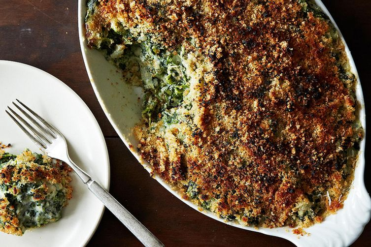 Spinach Gratin Recipe on Food52 Spinach Gratin