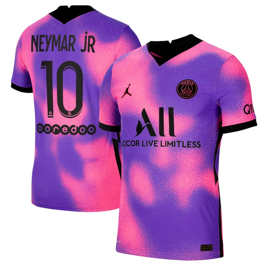 paris saint germain x jordan fourth vapor match jersey 2020 21 with neymar jr 10 printing