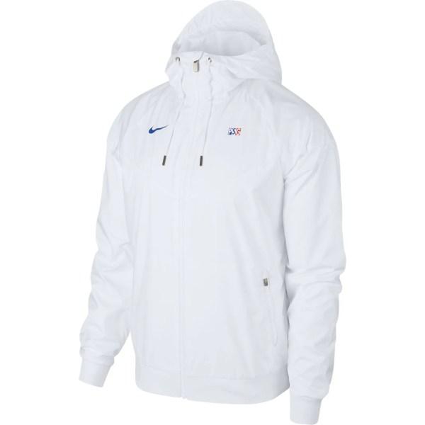 paris saint germain windrunner track jacket white