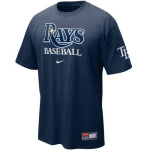 Nike Tampa Bay Rays Navy Blue MLB Practice T-shirt