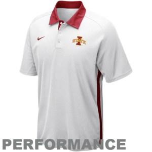 Nike Iowa State Cyclones 2012 Coaches Elite Force Performance Polo - White