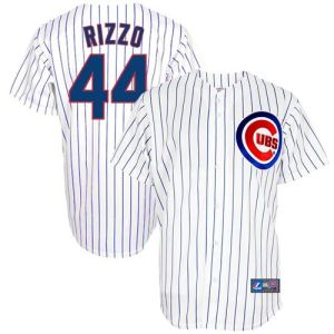 Majestic Anthony Rizzo Chicago Cubs Replica Player Jersey - White
