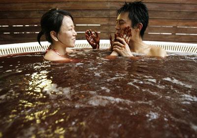 Japanese couple celebrate Valentines