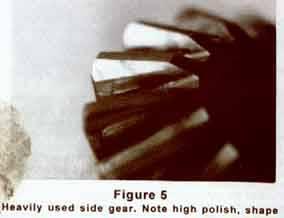 Heavily used side gear