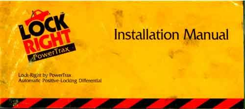Installation Manual Cover