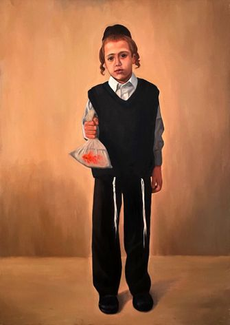 """The boy and goldfish from season two of """"Shtisel."""" by the Forward"""