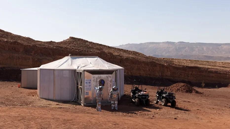 Mars in Israel desert