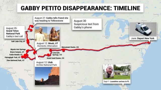 Gabby Petito case timeline