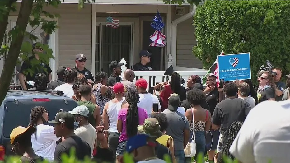 Video: Man screams racial slurs outside NJ residence, encourages people to come to his home. More than 100 people show up.