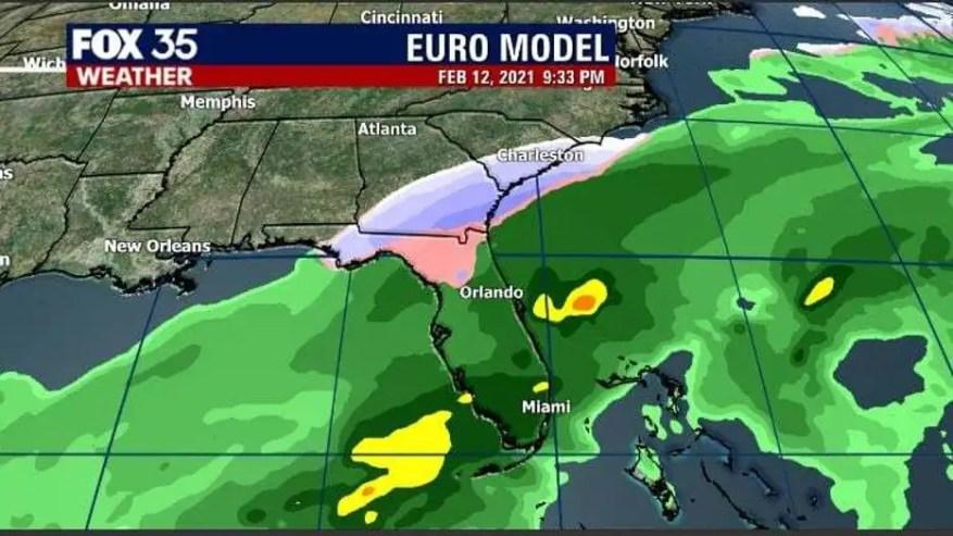 Los Modelos De Pronóstico Muestran La Posibilidad De Nieve Mezcla De Lluvia Y Nieve En Florida Noticias Ultimas