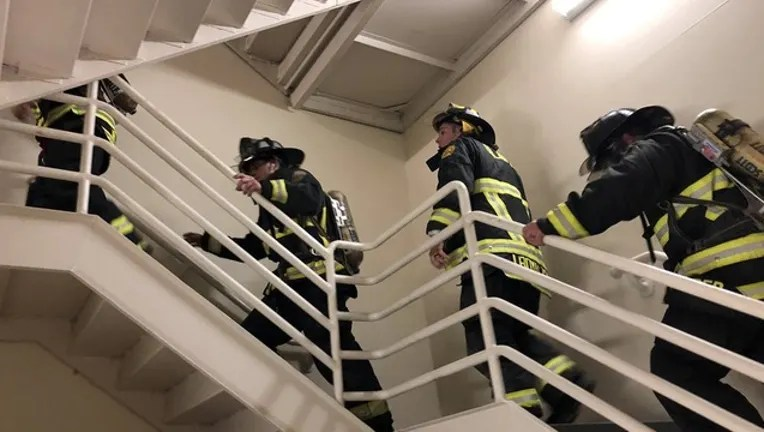 Orlando Firefighters Climb 110 Flights Of Stairs To Honor