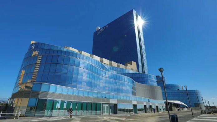Atlantic City, NJ .  Outside view of Ocean Casino Resort from the Boardwalk in