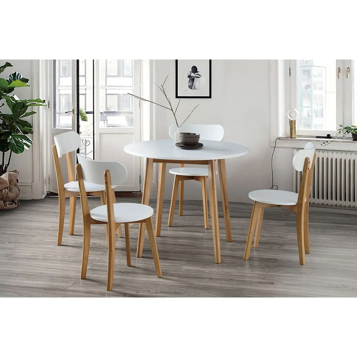 مثير ضمادة لا يصدق table a manger bois et blanc amazon