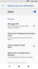 Android 81 options pour les développeurs (2)