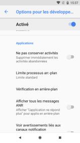Android 81 options pour les développeurs (6)