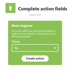 IFTTT recette wifi mute ringtone THEN