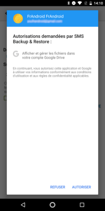 SMS Backup sauvegarde des message (3)