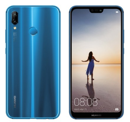 Huawei P20 Lite blue press render