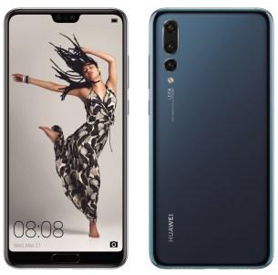 Huawei P20 Pro blue press render
