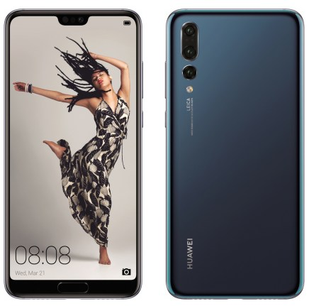 Huawei P20 Pro blue press render