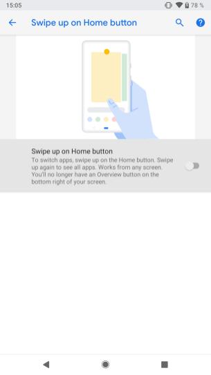 Android P Beta Google Pixel 2 activer gestes (4)