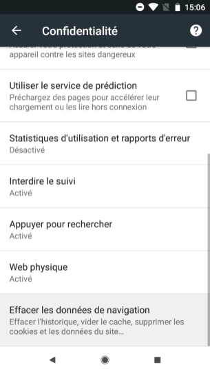 Google Chrome Android supprimer suggestions (5)