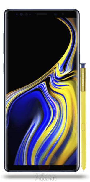 Samsung-Galaxy-Note9 bleu face