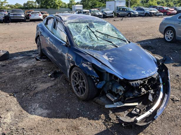 Tesla Model 3 destroyed b