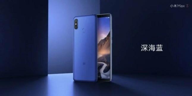 Xiaomi Mi Max 3 bleu