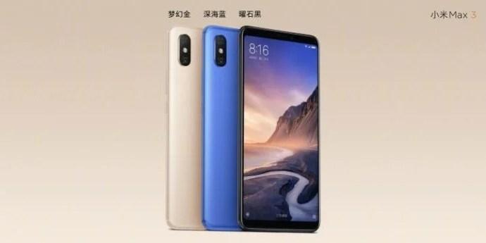 Xiaomi Mi Max 3 tri